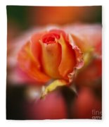Rose Centerpiece Fleece Blanket