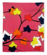 Rose Coloured Glow Fleece Blanket