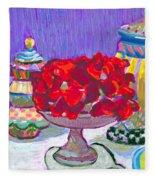 Rose Covered Cake Fleece Blanket