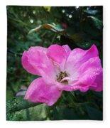 Rose Dew Fleece Blanket
