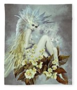 Rose Fairy Fleece Blanket