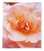 Rose Floral Art Print Peach Pink Roses Garden Canvas Baslee Troutman Fleece Blanket