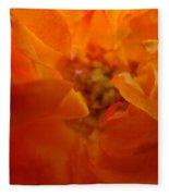 Rose Flower Orange Glowing Rose Giclee Baslee Troutman Fleece Blanket