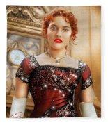 Rose From Titanic Fleece Blanket