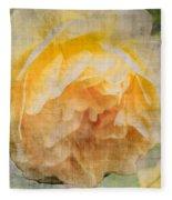 Rose In Bloom  Fleece Blanket