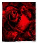 Furious Rose Magic Red Fleece Blanket