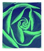 Rose Mint Fleece Blanket