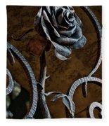 Rose Of Iron Fleece Blanket