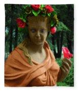 Rose Of The Garden Fleece Blanket