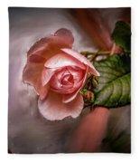 Rose On Paint #g5 Fleece Blanket