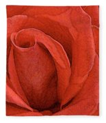 Rose-paintdaubs-2 Fleece Blanket