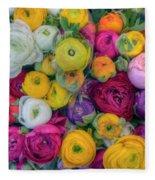 Rose Petals Fleece Blanket