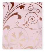 Rose Quartz Gold Komingo Fleece Blanket