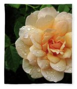 Rose Rain Fleece Blanket