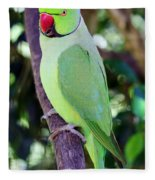 Rose-ringed Parakeet Fleece Blanket