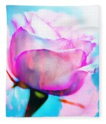 Rose Soft Pink Silked In Thick Paint Fleece Blanket