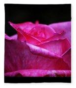 Rose Tryptich Fleece Blanket
