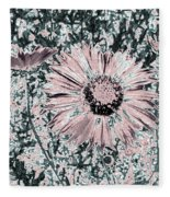 Rose Wine Daisies Fleece Blanket