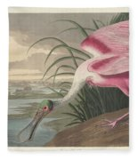 Roseate Spoonbill, 1836  Fleece Blanket