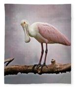 Roseate Spoonbill Costa Rica Fleece Blanket