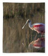 Roseate Spoonbill In Morning Light Fleece Blanket
