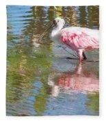 Roseate Spoonbill Young Adult Fleece Blanket