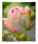Rosebud Pale Pink Fleece Blanket