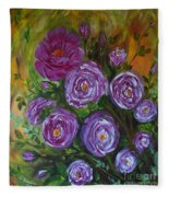 Rosebush Fleece Blanket