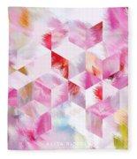 Roselique Cubes Fleece Blanket