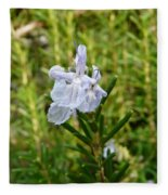 Rosemary Bloom Fleece Blanket