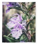 Rosemary Blooming Fleece Blanket
