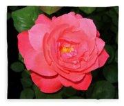 Roses 12 Fleece Blanket