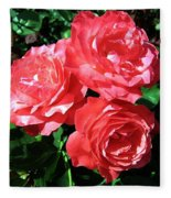 Roses 9 Fleece Blanket