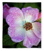 Roses After The Rain Fleece Blanket