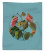 Roses And Wildflowers Fleece Blanket