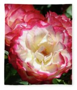Roses Art Prints Pink White Rose Flowers Gifts Baslee Troutman Fleece Blanket