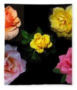 Roses Beautiful Fleece Blanket