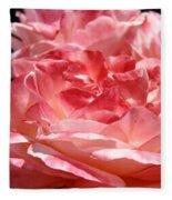 Roses Cinnamon Pink Rose Flowers 3 Rose Garden Art Baslee Troutman Fleece Blanket
