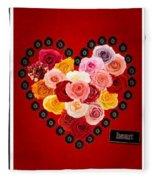 Roses For My Dear Love Fleece Blanket