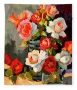 Roses From My Garden Fleece Blanket