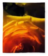 Roses In Moonlight 11 Fleece Blanket