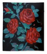 Roses In The Classic Style Fleece Blanket