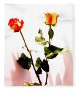 Roses In The Light Fleece Blanket