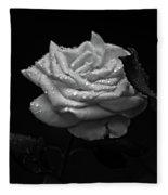 Roses In The Rain Fleece Blanket