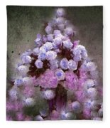 Roses Lilac And Shabby Pink Fleece Blanket