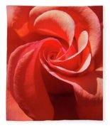 Roses Orange Rose Flower Spiral Artwork 4 Rose Garden Baslee Troutman Fleece Blanket