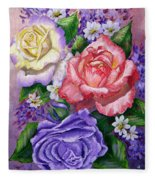Roses Fleece Blanket