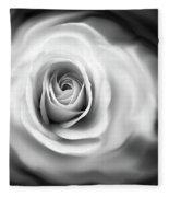 Rose's Whisper Black And White Fleece Blanket