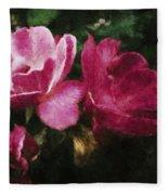 Roses With Texture Fleece Blanket