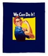 Rosie The Rivetor Fleece Blanket